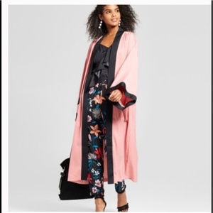 Who What Wear Pink Long Duster Kimono Jacket S/M